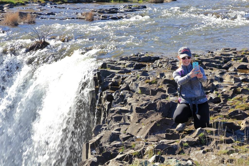 selfie at Towell Falls