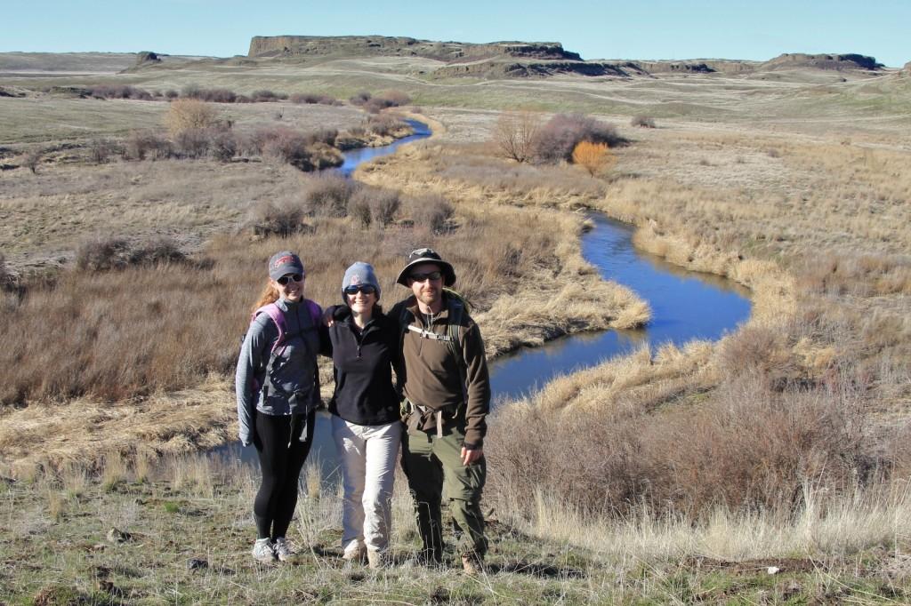 happy hikers above Rock Creek