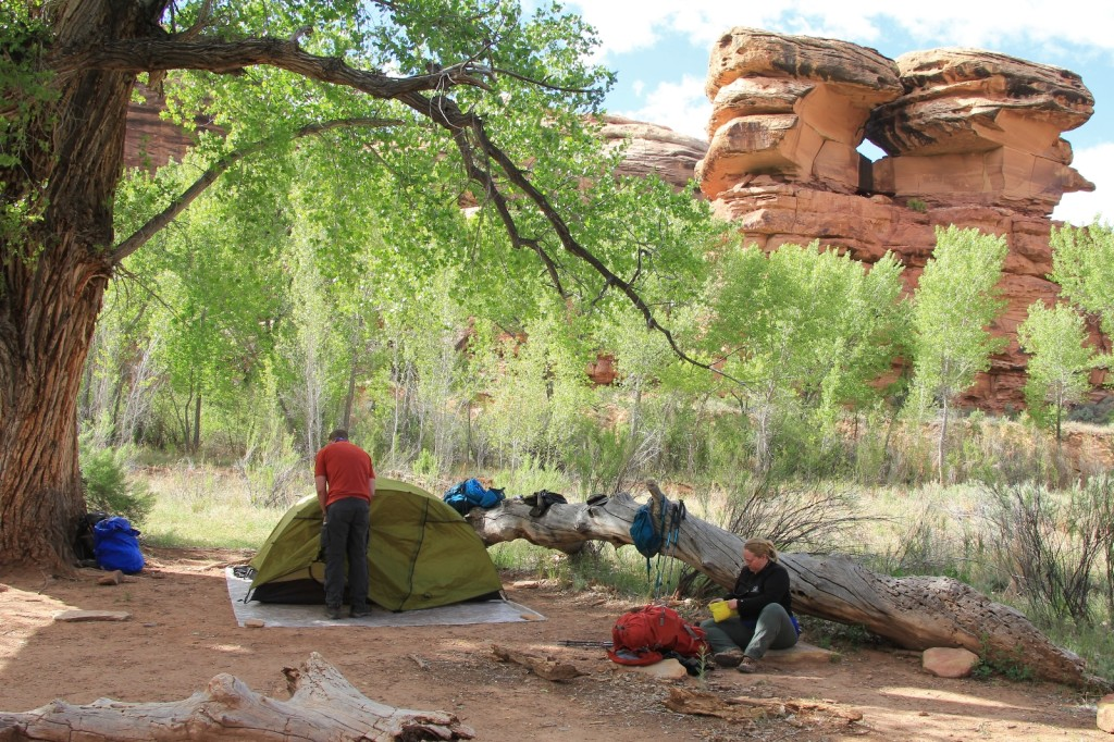 at Angel Arch Camp