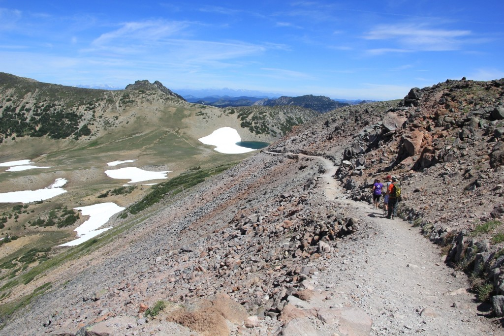 descent from First Burroughs to Frozen Lake