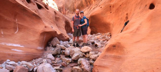 Backpacking Utah's Neon & Choprock Canyons Day 2, April 2017