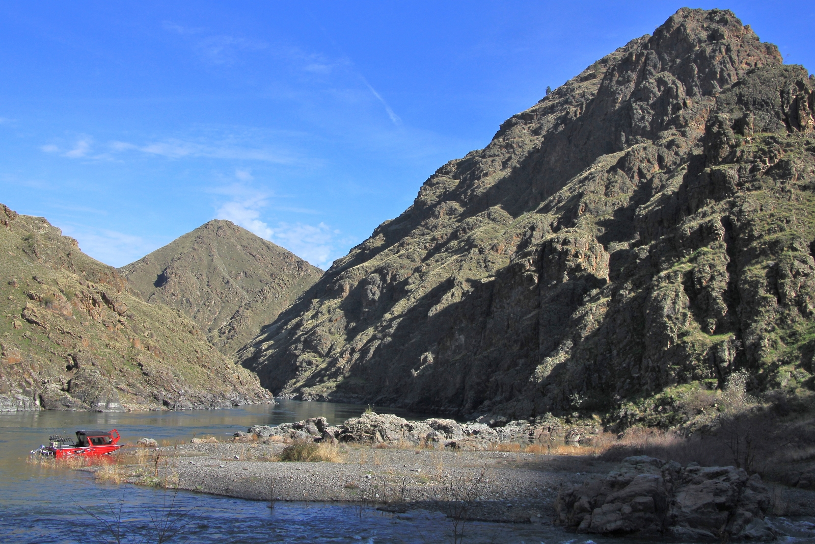 Confluence of Imnaha and Snake Rivers in Hells Canyon, Idaho-Oregon border