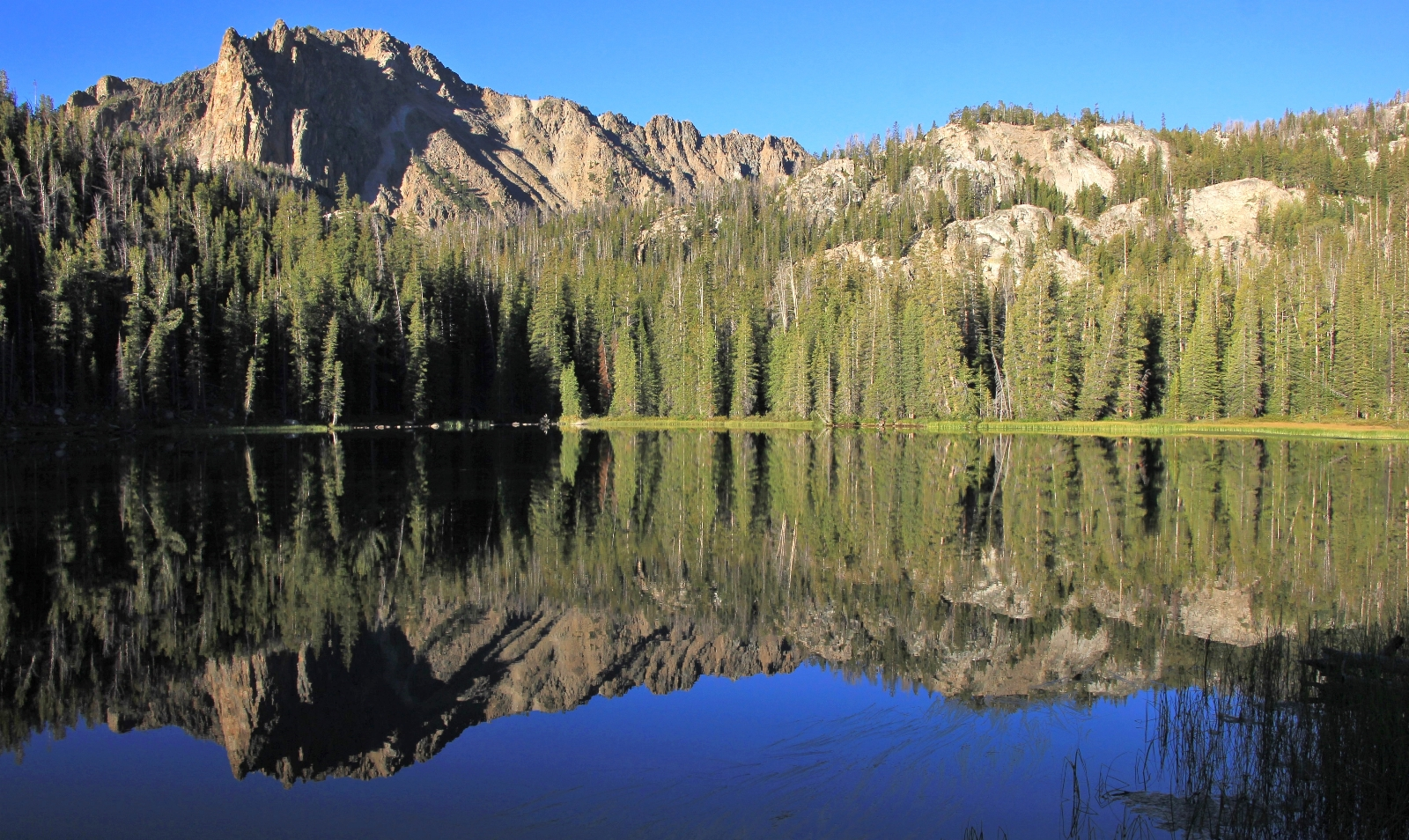morning view from camp at Willow Lake