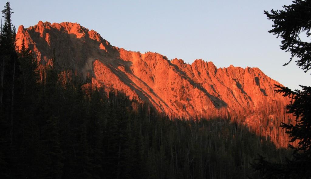 sunrise at Willow Lake