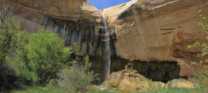 Grand Staircase-Escalante National Monument's Upper Calf Creek Falls, April 2017