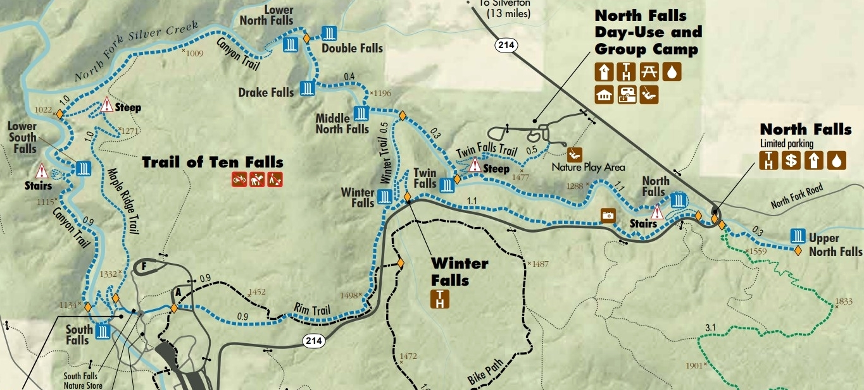 Oregon S Silver Falls State Park Trail Of Ten Falls April 2018