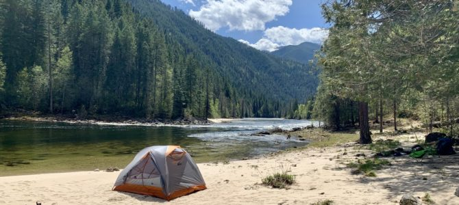Adventure Log April 22 – May 5, 2019 (Family & Friends, Post Falls & Coeur d'Alene Wanderings, and Selway River Backpack)